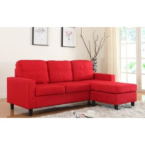 Metro Modern Reversible Small Sectional - Sofamania