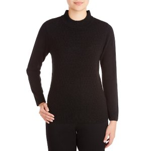 Allison Daley Mock Neck Solid Pullover Sweater | Dillards