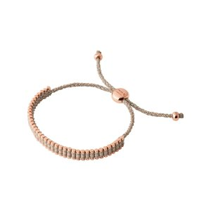 Mini Taupe Rose Gold Vermeil Friendship Bracelet | Women Bracelets, Official Links of London