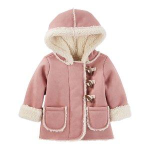 Baby Girl Sherpa-Lined Toggle Jacket | OshKosh.com