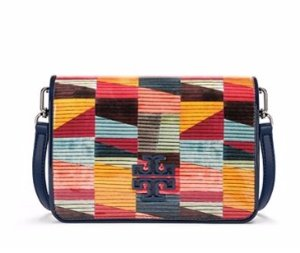 Britten Printed Patent Combo Cross-body @ Tory Burch