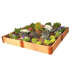 Frame It All Two Inch Series 8 ft. x 8 ft. x 11 in. Composite Raised Garden Bed Kit-300001099 - The Home Depot
