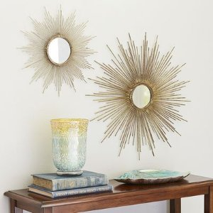 Petite Gold Burst Round Mirror | Pier 1 Imports