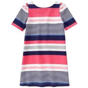 Girls Bright Rose Stripe Striped Shift Dress by Gymboree