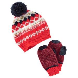 Toddler Girl Hat & Mittens Set | OshKosh.com