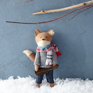 Erika Barratt Fox Ornament - Boy with Instrument | west elm