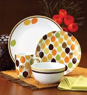 $30.75 Rachael Ray Dinnerware Little Hoot 16-Piece Dinnerware Set