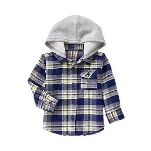 Hooded Flannel Shirt at Crazy 8