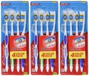 $5.61 Colgate Extra Clean Toothbrush, Full Head, Medium, 12 Count