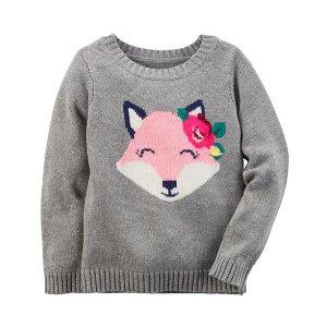Baby Girl Animal Sweater | Carters.com