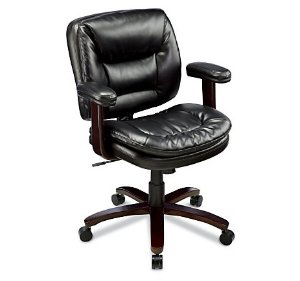Realspace® Elmhart Low-Back Bonded Leather Task Chair