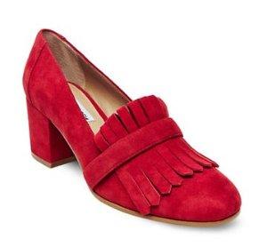 STEVE MADDEN Kate Suede Loafer Heels @ Lord & Taylor