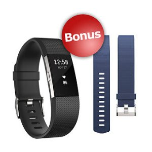 Fitbit Charge HR 2 Wireless Activity Tracker with Bonus Band - Large - BJ's Wholesale Club