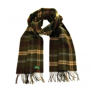 GLENCROFT 100% Premium CASHMERE 180x30 CM SCARF - Yorkshire Dale( Olive / Tan ) - Accessories | Unineed | Premium Beauty