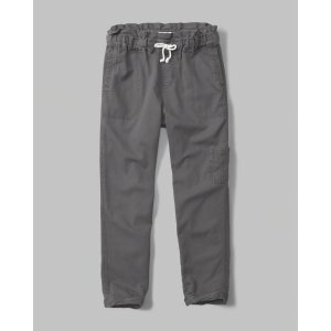 girls twill trouser pants | girls stock up sale | Abercrombie.com