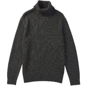 Mock-Neck Sweater - True Black