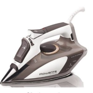 $53.00(reg.$100.00) Rowenta DW5080 Focus 1700-Watt Micro Steam Iron Stainless Steel Soleplate with Auto-Off, 400-Hole, Brown