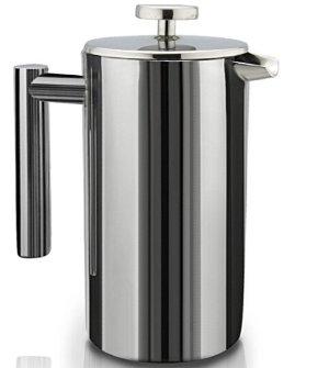 $19.98 (原价$79.98)销量冠军!SterlingPro 法压真空不锈钢咖啡壶
