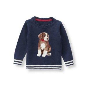 Navy Dog Sweater at JanieandJack