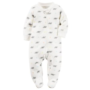 Baby Neutral Terry Zip-Up Sleep & Play | Carters.com