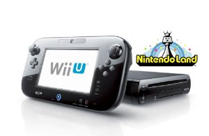 Black Wii U 32GB Deluxe + Nintendo Land - FACTORY REFURBISHED BY NINTENDO
