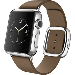 Apple Watch (first-generation) 38mm Stainless Steel Case - Brown Modern Buckle