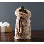 FAUX FUR WINE BAG - CARAMEL OMBRE