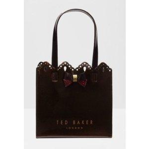 IDACON Scalloped edge small shopper bag