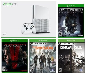 $399.99 Xbox One S 2TB + The Division + MGS V + Dishonored + Siege