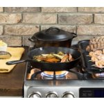 Lodge L8GP3 Cast Iron Grill Pan, 10.25-inch