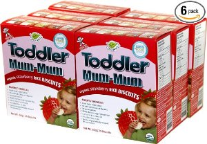$10.93 Or $9.21 for Prime Hot-Kid Toddler Mum-Mum Rice Biscuits, 24 Pieces, Organic Strawberry (Pack of 6)