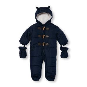 Baby Boys Long Sleeve Toggle Button Hooded Snowsuit Set   The Children's Place