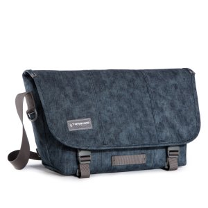 Classic Messenger Bag, Acid Denim - Washed Cotton Denim