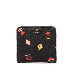 Fossil Gift Print Leather Bi-Fold Wallet