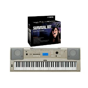 Yamaha YPG-235 76-Key Portable Grand Piano Keyboard with D2 Survival Kit
