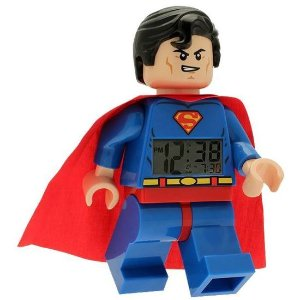 LEGO Kids' DC Super Heroes Mini-Figure Alarm Clock