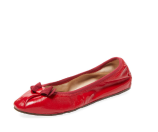 My Joy Leather Ballet Flat by Salvatore Ferragamo at Gilt