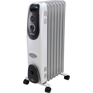 Pelonis Electric Radiator Heater, 7 Fin, Oil-Filled