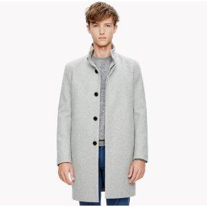 Wool Melton Stand Collar Coat