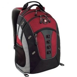 SwissGear by Wenger Granite 16 Computer Laptop Backpack (Red) | Focus Camera