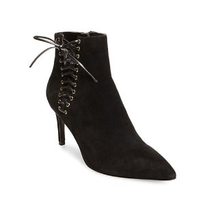 DESIGN LAB LORD & TAYLOR Sofia Suede Ankle Boots