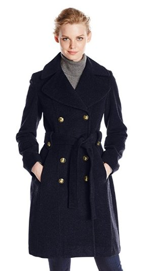 Anne Klein Women's Double-Breasted Wool-Blend Coat