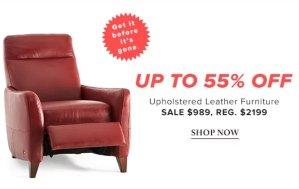 今日闪购低至4.5折精选真皮沙发、桌椅等家具