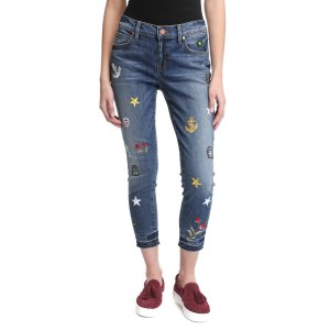 Level 99 Slouchy Patched Skinny Jeans   South Moon Under