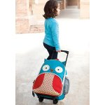 Skip Hop Zoo Little Kid and Toddler Travel Rolling Luggage Backpack, Ages 3+, Multi Otis Owl