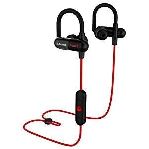 SoundPEATS Bluetooth Headphones Sport Wireless Sweatproof Earbuds for Running with Mic
