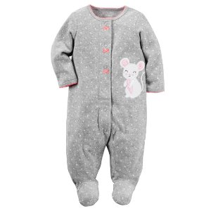 Baby Girl Terry Snap-Up Sleep & Play | Carters.com