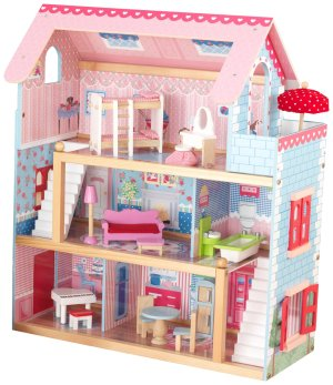 $53.99+Free Shipping KidKraft Chelsea Doll Cottage with Furniture