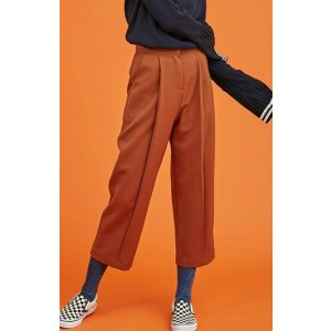 ANOTHER A Front Pintuck Fold Pants (light Brown)