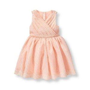 Baby Girl Blush Shimmer Jacquard Dress at JanieandJack